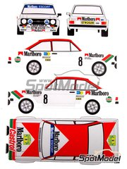 Renaissance Models: Marking / livery 1/24 scale - Ford Escort Mk. II RS 1800 Group 4  Castrol Malboro #8 - Ari Vatanen (FI) + Atso Aho (FI) - Svezia Sweden Rally 1978 - resin parts, water slide decals, assembly instructions and painting instructions - for Italeri references 3650 and 3655, or Revell references REV07374 and 7374