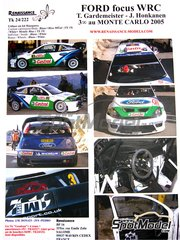 Renaissance Models: Decals 1/24 scale - Ford Focus RS04 WRC Castrol #3 - Toni Gardemeister (FI) + Jakke Honkanen (FI) - Montecarlo Rally 2005 - for Hasegawa references 20263 and 25034