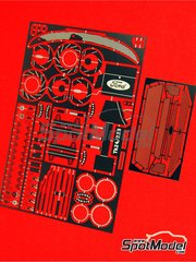 Renaissance Models: Photo-etched parts 1/24 scale - Ford Focus RS03 WRC - for Hasegawa kit