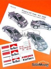 Renaissance Models: Decoración escala 1/24 - Peugeot 307 WRC Marlboro - Rally de Montecarlo 2005 - calcas de agua y manual de instrucciones - para las referencias de Tamiya TAM24285 y 24285