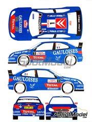 Renaissance Models: Transkit 1/24 scale - Citroen Xsara WRC Kronos Gauloises #1, 2 - Sebastien Loeb (FR) + Daniel Elena (MC), Xavier 'Xavi' Pons (ES) + Carlos Pedro del Barrio (AR) - Montecarlo Rally 2006 - decals and resin parts - for Heller reference 80769, or Italeri reference ITA3698