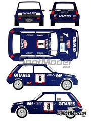 Renaissance Models: Marking / livery 1/24 scale - Renault 5 Alpine Group 2 Gitanes #6 - Jean Ragnotti (FR) + Jean-Marc Andrié (FR) - Tour de Corse 1979 - water slide decals, assembly instructions and painting instructions - for ESCI reference 3016, or Italeri references 3652 and ITA3695