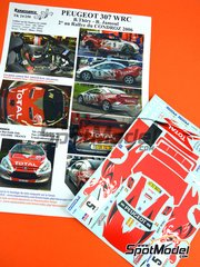 Renaissance Models: Marking 1/24 scale - Peugeot 307 WRC Total #5 - Bruno Thiry (BE) + Jamoul (BE) - Condroz Rally 2006 - water slide decals and assembly instructions - for Tamiya kit TAM24285 image