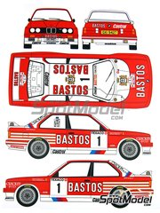 Renaissance Models: Marking / livery 1/24 scale - BMW M3 E30 Bastos Castrol #1 - Patrick Snijers (BE) + Dany Colebunders (BE) - Boucles de SPA 1988 - water slide decals and assembly instructions - for Fujimi kits