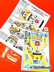Renaissance Models: Marking / livery 1/24 scale - Citroen Xsara WRC OMV #6 - François Duval (BE) + Patrick Pivato (FR) - ADAC Deutschland Rally 2007 - resin parts, water slide decals and assembly instructions - for Heller reference 80769