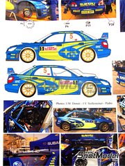Renaissance Models: Transkit 1/24 scale - Subaru WRC S12 #5, 6 - Petter Solberg (NO) + Phil Mills (GB), Stéphane Sarrazin (FR) + Stéphane Prévot (BE) - Montecarlo Rally, Tour de Corse 2006 - photo-etched parts, resin parts, rubber parts, water slide decals and assembly instructions - for Tamiya reference TAM24281