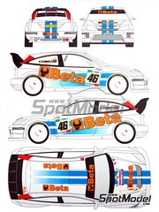 Renaissance Models: Decals 1/24 scale - Ford Focus WRC Beta Tools #46 - Valentino Rossi (IT) + Carlo Cassina (IT) - Monza Rally 2007 - for Hasegawa kit 20222