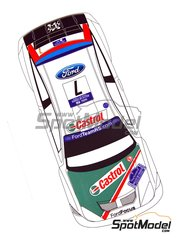 Renaissance Models: Decals 1/24 scale - Ford Focus RS04 WRC Castrol #7 - Markko Märtin (EE) + Michael Park (GB) - Tour de Corse 2004 - for Hasegawa references 20263 and 25034