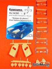 Renaissance Models: Transkit escala 1/24 - Subaru Impreza Grupo A - Juego de luces de noche - piezas de resina y lentes - para kit de Hasegawa