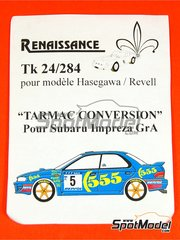 Renaissance Models: Tarmac conversion set 1/24 scale - Subaru Impreza Group A - rims, bumpers, tyres and brakes - for Hasegawa and Revell kits