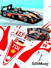 Renaissance Models: Marking / livery 1/24 scale - Audi R10 TDI Team Kolles #14, 15 - Narain Karthikeysan (IN) + André Lotterer (DE) + Charles Jr. Zwolsman (NL), Christijan Albers (NL) + Christian Bakkerud (DK) + Giorgio Mondini (CH) - 24 Hours Le Mans 2009 - water slide decals and assembly instructions - for Revell kit