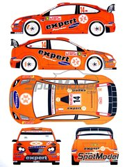 Renaissance Models: Marking / livery 1/24 scale - Ford Focus WRC RS08 Expert #14 - Petter Solberg (NO) - Montecarlo Rally - Rallye Automobile de Monte-Carlo 2008 - water slide decals and assembly instructions - for SimilR reference SIMILR-121001