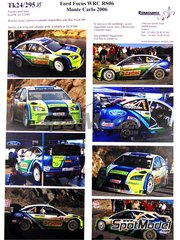 Renaissance Models: Marking / livery 1/24 scale - Ford Focus WRC RS06 #3, 4 - Marcus Grönholm (FI), Mikko Hirvonen (FI) - Montecarlo Rally - Rallye Automobile de Monte-Carlo 2008 - water slide decals and assembly instructions - for SimilR reference SIMILR-121001