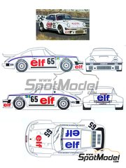 Renaissance Models: Marking / livery 1/24 scale - Porsche 911 Turbo RSR Type 934 Kremer ELF #65 - Robert 'Bob' Wollek (FR) + Didier Pironi (FR) + Marie-Claude Beaumont (FR) - 24 Hours Le Mans 1976 - water slide decals and assembly instructions - for Heller reference 80714, or Revell references REV07031 and REV07032
