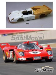 Renaissance Models: Transkit 1/24 scale - Ferrari 512S Long Tail #5, 6, 7, 8 - 24 Hours Le Mans 1970 - resins, decals - for Fujimi reference FJ12385 image