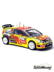 Renaissance Models: Marking / livery 1/24 scale - Citroen C4 WRC Mad Croc #11 - Petter Solberg (NO) - Alsace France Rally 2010 - water slide decals and assembly instructions - for Heller reference 80756