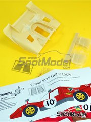Renaissance Models: Transkit 1/24 scale - Ferrari 512S BP #10 - 24 Hours Le Mans 1970 - photo-etched parts, resin parts, vacuum formed parts, water slide decals and assembly instructions - for Fujimi references FJ12385, FJ123851 and 123851