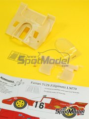 Renaissance Models: Marking / livery 1/24 scale - Ferrari 512S Scuderia Filipinetti #16 - 24 Hours Le Mans 1970 - photo-etched parts, resin parts, vacuum formed parts, water slide decals, assembly instructions and painting instructions - for Fujimi references FJ12385 and FJ123851