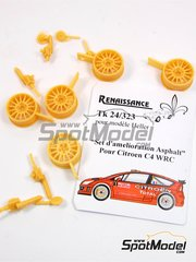 Renaissance Models: Tarmac conversion set 1/24 scale - Citroen C4 WRC - resins - for Heller reference 80756