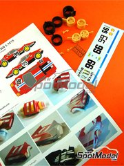 Renaissance Models: Transkit 1/24 scale - Ferrari 365 GT4/BB #99 - 24 Hours Le Mans 1975 - photo-etched parts, resin parts, rubber parts, water slide decals and assembly instructions - for Fujimi reference FJ122809