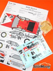 Renaissance Models: Marking / livery 1/24 scale - BMW M1 Group 4 Marlboro #84 - Hans-Joachim Stuck (DE) + Hans-Georg Bürger (DE) + Dominique Lacaud (FR) - 24 Hours Le Mans 1980 - resin parts, turned metal parts and water slide decals - for Revell reference REV07247