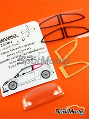 Renaissance Models: Transkit 1/24 scale - Ford Fiesta WRC : transparent parts update - resins and vacuform - for Belkits reference BEL-003