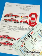 Renaissance Models: Marking / livery 1/24 scale - Porsche 911 SC Group 4 Grant Casino #10, 6, 3 - Bernard Béguin (FR) + Jean-Jacques 'JJ' Lenne (FR) - Antibes Rally, Tour de Corse 1979 - water slide decals and assembly instructions - for Tamiya references TAM24328 and TAM24334
