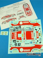 Renaissance Models: Marking / livery 1/24 scale - Porsche 934 Turbo RSR Group 4 Denver #Bussi + Salam, Bussi + Salam + Grandet - 24 Hours Le Mans 1979 and 1980 - water slide decals and assembly instructions - for Tamiya references TAM24328 and TAM24334