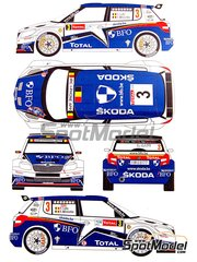 Renaissance Models: Marking / livery 1/24 scale - Skoda Fabia S2000 Evo BFO #3 - Freddy Loix (BE) + Frederic Miclotte (BE) - Ypres Rally 2011 - water slide decals, assembly instructions and painting instructions - for Belkits references BEL-004 and BEL004