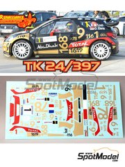 Renaissance Models: Marking / livery 1/24 scale - Citroen DS3 WRC Abu Dhabi #1 - Sebastien Loeb (FR) + Daniel Elena (MC) - Alsace - Vosges Rally 2013 - water slide decals, assembly instructions and painting instructions - for Heller references 80757 and 80758