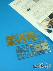 Renaissance Models: Detail up set 1/24 scale - McLaren F1 GTR Long Tail 1997 and 1998 - photo-etched parts and assembly instructions - for Aoshima references AOS01418, AOSH-007457, AOSH-007471, AOSH-00749 and AOSH-007518