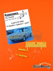 Renaissance Models: Transkit 1/24 scale - Volkswagen Golf I GTI - resins - for Revell references REV07071 and REV07072