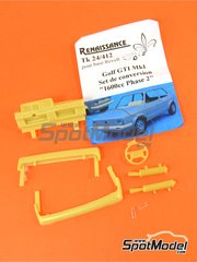 Renaissance Models: Transkit 1/24 scale - Volkswagen Golf I GTI - resins - for Fujimi reference FJ126098, or Revell references REV07071 and REV07072