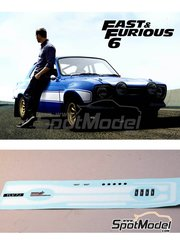 Renaissance Models: Marking / livery 1/24 scale - Ford Escort RS1600 Mk I Fast And Furious - for Belkits kits BEL006 and BEL007