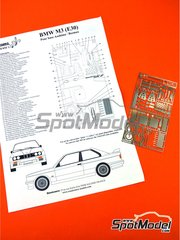 Renaissance Models: Detail up set 1/24 scale - BMW M3 E30 Rally Group A - photo-etched parts and assembly instructions - for Beemax Model Kits references B24007, Aoshima 098196, B24016 and B24019 image