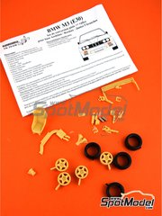Renaissance Models: Transkit 1/24 scale - BMW M3 E30 Rally Group A - resin parts, rubber parts, turned metal parts and assembly instructions - for Beemax Model Kits references B24007, Aoshima 098196, B24016 and B24019