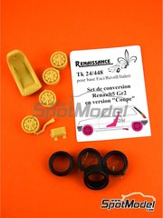 Renaissance Models: Transkit 1/24 scale - Renault R5 Coupe - resin parts and rubber parts - for ESCI reference 3016, or Italeri reference 3652