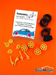 Renaissance Models: Gravel set-up 1/24 scale - Speedline 7 arms 1998 and 1999 - resin parts and rubber parts - for Tamiya references TAM24199 and TAM24218