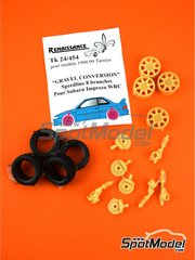 Renaissance Models: Gravel set-up 1/24 scale - Speedline 8 arms 1998 and 1999 - resin parts - for Tamiya references TAM24199 and TAM24218