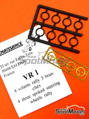 Renaissance Models: Detail 1/43 scale - Three spoked steering wheels rally - 4 units