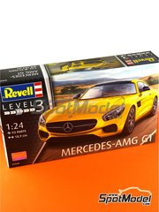 Revell: Model car kit 1/24 scale - Mercedes Benz AMG GT - plastic parts, rubber parts, water slide decals and assembly instructions