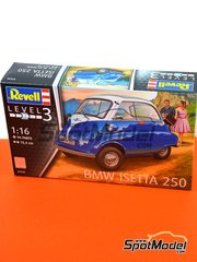 Revell: Model car kit 1/16 scale - BMW Isetta - plastic parts, water slide decals and assembly instructions