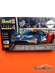 Revell: Model car kit 1/24 scale - Ford GT #66 - 24 Hours Le Mans 2016 - plastic parts, water slide decals, assembly instructions and painting instructions