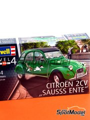 Revell: Model car kit 1/24 scale - Citroën 2CV Sausss Ente - plastic parts, water slide decals and assembly instructions image