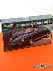 Revell: Model car kit 1/25 scale - Porsche 911 Carrera RS 3.0 - plastic parts, water slide decals and assembly instructions