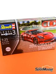 Revell: Model car kit 1/25 scale - Chevrolet Corvette Stingray 2014 - plastic model kit