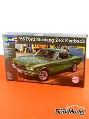 Revell: Model car kit 1/24 scale - Ford Mustang 2+2 Fastback 1965 - plastic model kit image