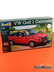 Revell: Maqueta de coche escala 1/24 - Volkswagen Golf I Cabrio - maqueta de plástico