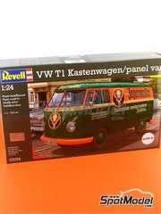 Revell: Model van kit 1/24 scale - Volkswagen Transporter T1 Jagermeister - plastic model kit image