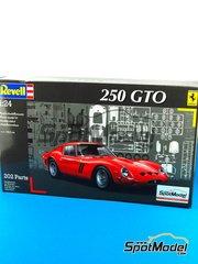 Revell: Model car kit 1/24 scale - Ferrari 250 GTO #3, 22 - Léon 'Eldé' Dernier (BE) + Jean 'Beurlys' Blaton (BE), Henri Oreiller (FR) - 24 Hours Le Mans 1962 - plastic model kit - 202 units